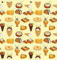 wafer cookies seamless pattern background waffle vector image vector image