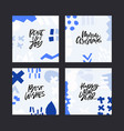 winter holiday lettering set vector image vector image