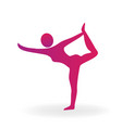 woman gimnastic fitness sport pose logo vector image vector image