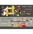 Work Tools Concept Banner Set vector image vector image