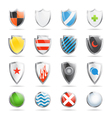 Colorful shields collection isolated on white vector image