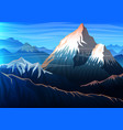 mountain everest evening panoramic view of peaks vector image