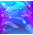 Abstract background with waves and glowing dots vector image vector image