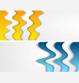 abstract bright corporate waves modern banners vector image vector image
