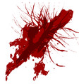 abstract splatter red color background design vector image vector image