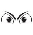 angry eyes cartoon vector image vector image