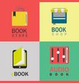 book logo set vector image vector image