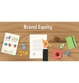 brand equity value valuation with vector image vector image
