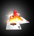 burning card vector image vector image