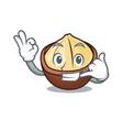 call me macadamia mascot cartoon style vector image vector image
