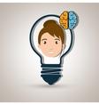 character idea brain icon vector image
