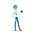 chemical engineer working on oil samples oil vector image vector image