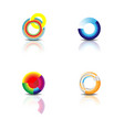color circle logo vector image