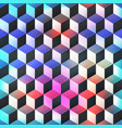 colored cube seamless pattern vector image