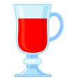colorful cartoon mulled wine glass vector image