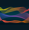 colorful sound wave line vector image