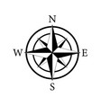 compass icon nautical for travel vector image vector image