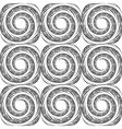 Design seamless monochrome spiral background vector image vector image