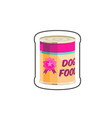 dog canned food vector image vector image