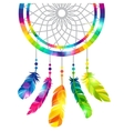 Dream catcher with abstract bright transparent vector image