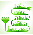 ecology concept with heart icon vector image