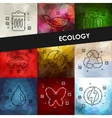 ecology timeline infographics with blurred