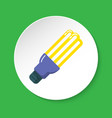 energy saving fluorescent light bulb flat icon on vector image
