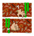 evil cartoon halloween horizontal banners vector image