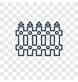 fence concept linear icon isolated on transparent vector image