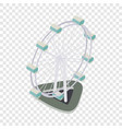 ferris wheel isometric icon vector image vector image