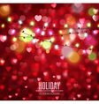 festive background for Valentines Day with hearts vector image vector image