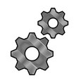 gears machinery isolated icon vector image vector image