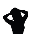girl with jewelry silhouette vector image