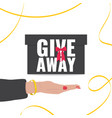 giveaway concept banner for promotion in social vector image vector image