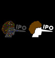 glowing mesh 2d ipo liar icon with flash spots vector image vector image