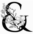 hand drawn floral ampersand monogram and vector image