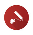 hand holding paint roller flat linear long shadow vector image vector image