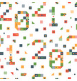 happy new year 2021 pixel art seamless pattern vector image vector image