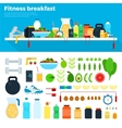 Healthy and nutritious breakfast vector image vector image