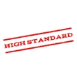 High Standard Watermark Stamp vector image vector image