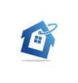 house icon sale business logo vector image vector image