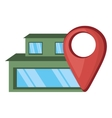 house real estate pin map location vector image vector image