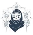 icon muslim woman- bride vector image vector image
