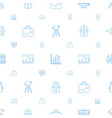 infographic icons pattern seamless white vector image vector image