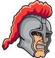knight head logo mascot vector image vector image