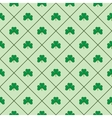 Leaf in square seamless pattern vector image vector image