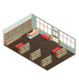 Library Interior Isometric vector image vector image