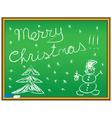 Merry Christmas congratulation vector image vector image