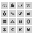 Money icons vector image vector image