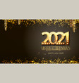 new year golden numbers with lamp light retro vector image vector image